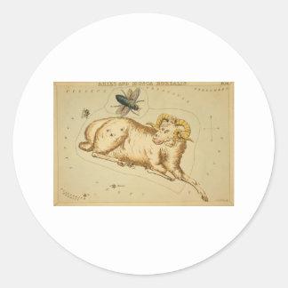 astrological_sign_aries_2 pegatina redonda