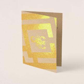 Astrological Sign Scorpio Foil Decor Custom Text Foil Card