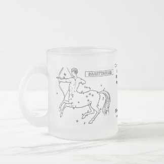 astrological-signs-3, Optimistic and freedom-lo... Frosted Glass Coffee Mug