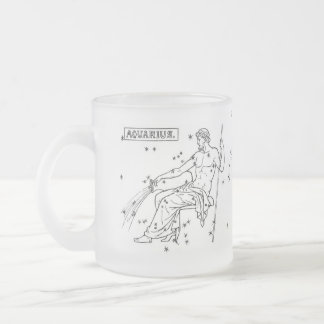 astrological-signs-5, Friendly and humanitarian... 10 Oz Frosted Glass Coffee Mug