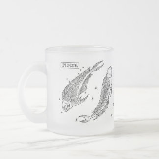 astrological-signs-6, Imaginative and sensitive... 10 Oz Frosted Glass Coffee Mug