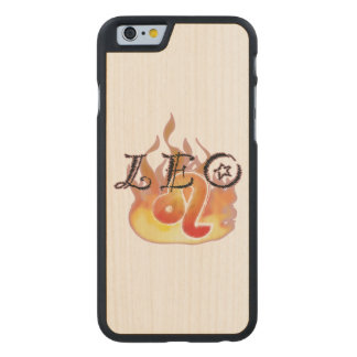 Astrological Signs of the Zodiac: Leo Carved® Maple iPhone 6 Case