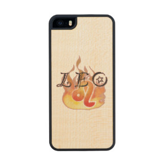 Astrological Signs of the Zodiac: Leo Wood iPhone SE/5/5s Case