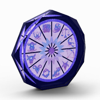 Astrological Signs of the Zodiac Purple and Blue Award
