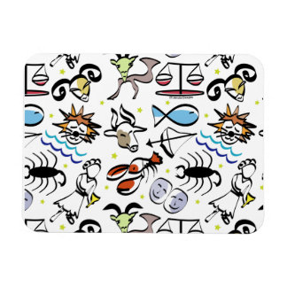 Astrological Signs of the Zodiac Rectangle Magnets