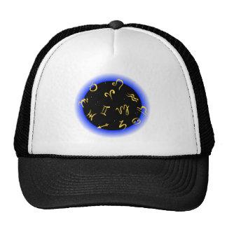 Astrological Symbols Mesh Hats