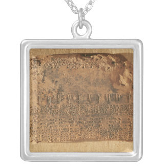 Astrological tablet, from Uruk Square Pendant Necklace
