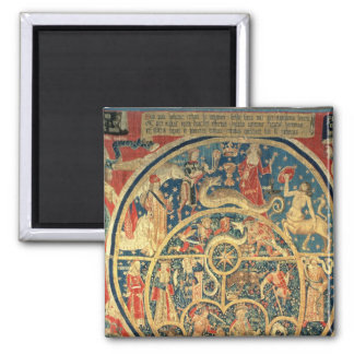 Astrological tapestry 2 inch square magnet