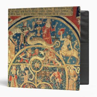 Astrological tapestry 3 ring binder