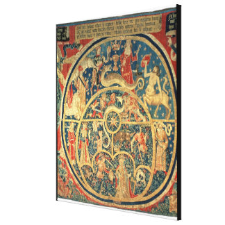 Astrological tapestry canvas print