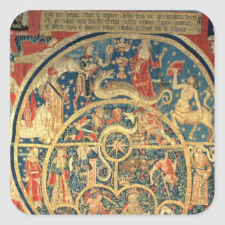 Astrological tapestry square sticker