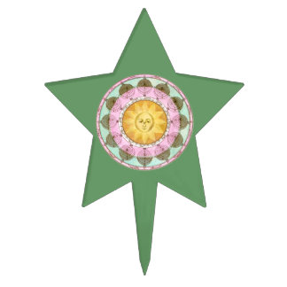 Astrological Wheel with Sun Cake Picks