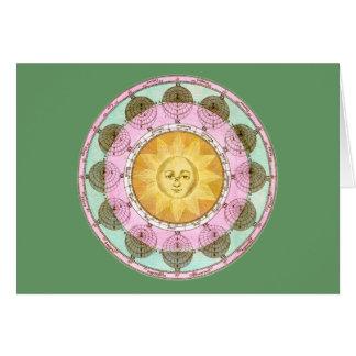 Astrological Wheel with Sun Cards