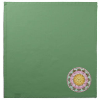Astrological Wheel with Sun Cloth Napkins