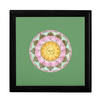 Astrological Wheel with Sun Trinket Box
