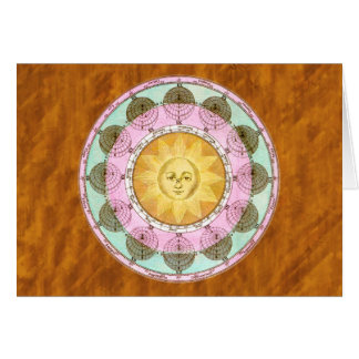 Astrological Wheel with Sun Greeting Card