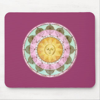 Astrological Wheel with Sun Mouse Pad