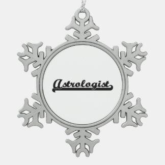 Astrologist Artistic Job Design Snowflake Pewter Christmas Ornament