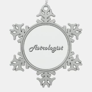 Astrologist Classic Job Design Snowflake Pewter Christmas Ornament
