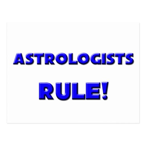 Astrologists Rule! Post Card