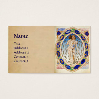 ASTROLOGY AND ZODIACAL SIGNS Astrologist Parchment Business Card