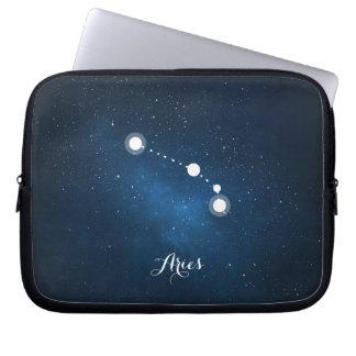 Astrology Blue Nebula Aries Zodiac Sign Laptop Sleeve