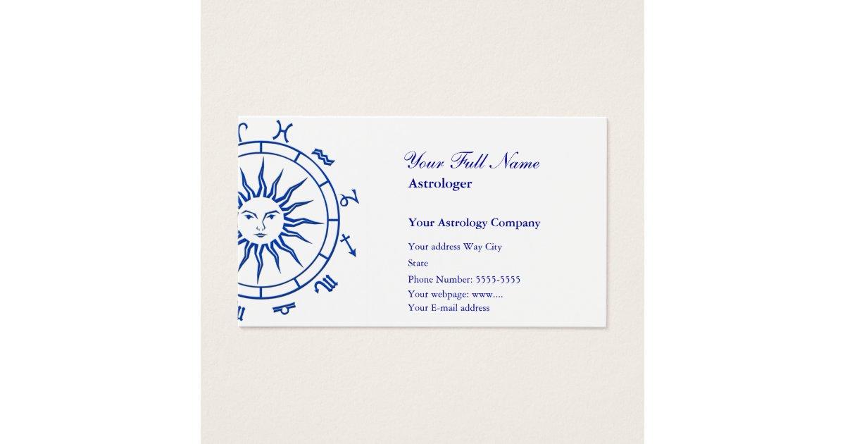 Astrology Business Card Template | Zazzle.com