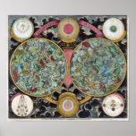 Astrology Chart Planisphaeri Coeleste Poster