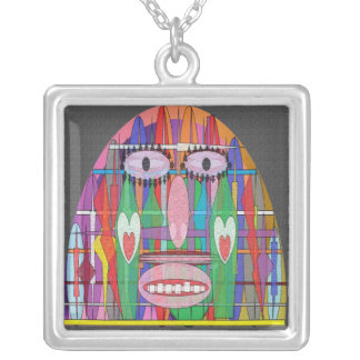 ASTROLOGY Collection Square Pendant Necklace