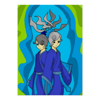 Astrology  Gemini Twins Wall Art Poster