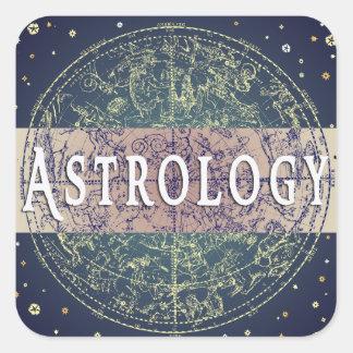 Astrology Genre Square Book Cover Sticker