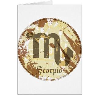 Astrology Grunge Scorpio Cards