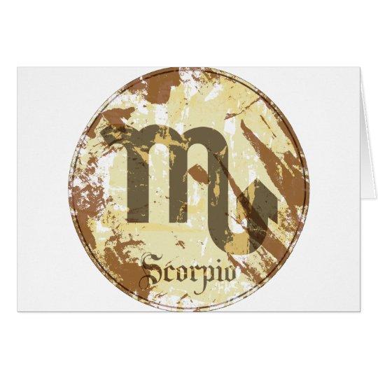 Astrology Grunge Scorpio Card