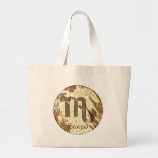 Astrology Grunge Scorpio Large Tote Bag