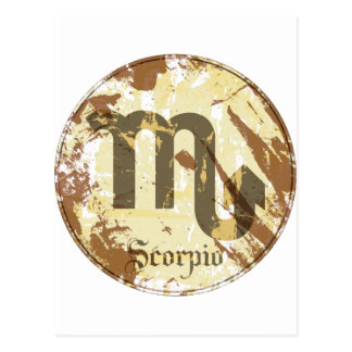 Astrology Grunge Scorpio Post Card