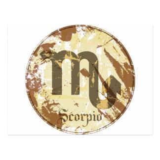 Astrology Grunge Scorpio Postcard