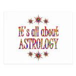 ASTROLOGY POSTCARD