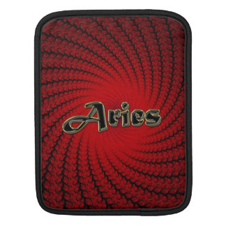 Astrology Red Spiral Aries Zodiac Sign iPad Sleeve