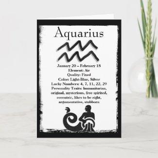 Astrology Sign Aquarius Horoscope Zodiac Card