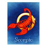 Astrology Sign Scorpio Postcard