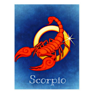 Astrology Sign Scorpio Postcard