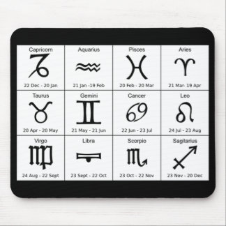 astrology signs mousepad