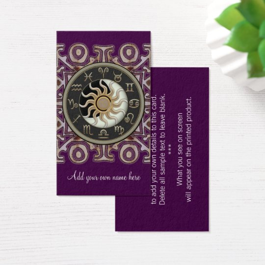 Zodiac Business Cards  Zodiac Business Card Templateszodiac