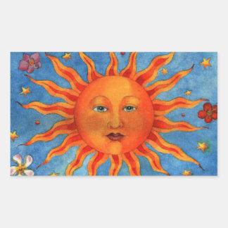 Astrology Sun Rectangular Sticker