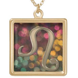 Astrology Zodiac Sign Leo Autumn Glitter Necklace