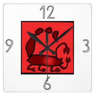 Astrology Zodiac Sign Scorpio Wall Clock