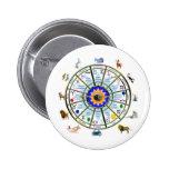 Astrology - ZODIAC-  Signs 2 Inch Round Button