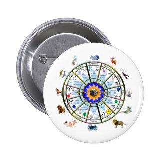 Astrology - ZODIAC-  Signs Pinback Button