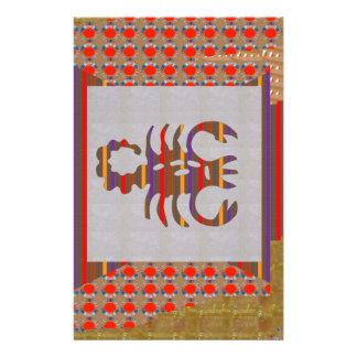 Astrology Zodiac Symbols Tantrik Healer Guru BLESS Personalized Stationery