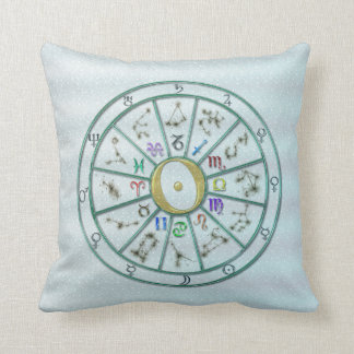 Astrology Zodiac Wheel +gift Throw Pillow